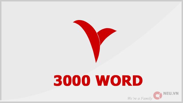 3000 Từ tiếng anh thông dụng
