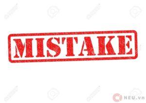 Mistake - Lỗi gì