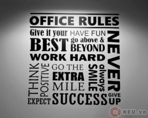 The office rules - Nội quy cơ quan