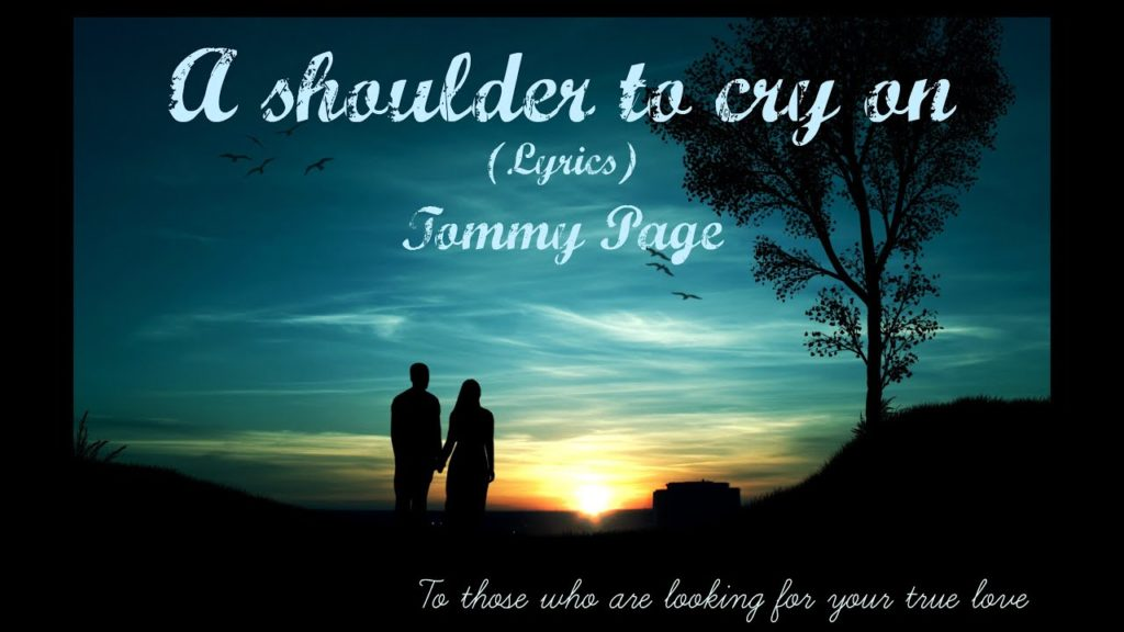 A shoulder to cry on