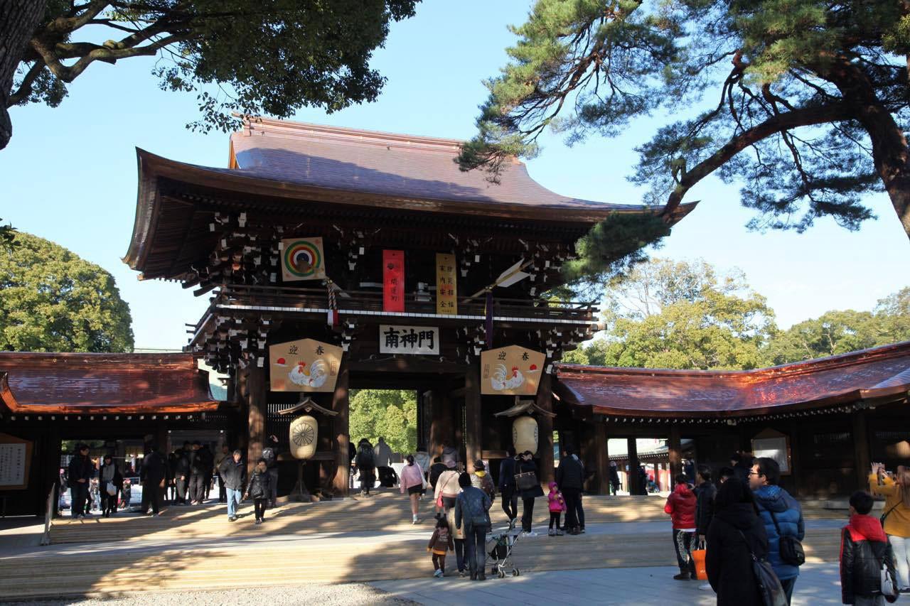 đền thờ Thiên Hoàng Minh Trị nổi tiếng NB