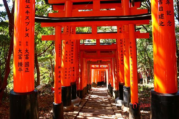 Hàng nghìn chiếc cổng Torii đặc biệt ở đền thờ Fushimi-Inari-taisha hn