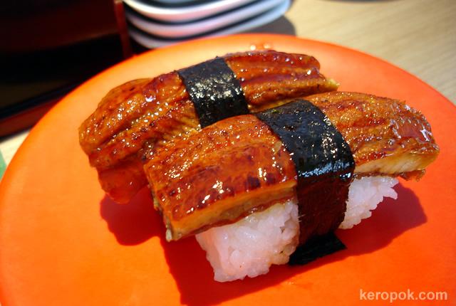 Sushi cá chình bông của Nhật Bản hn