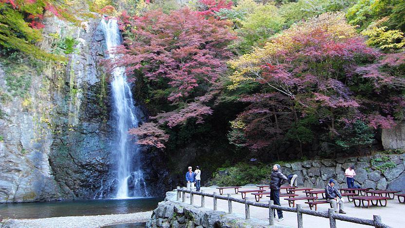 thác nước nổi bật của công viên Minoo hn
