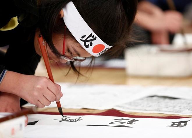 tinh thần tự hào của người tham gia về thư pháp Nhật Bản hn